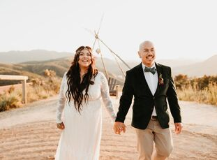 "Linda	Pheng describes her wedding to Gary Pheng as ""bohemian with a pinch of eclectic, minimalistic, rustic and modern vibes."" The fashion choices com"