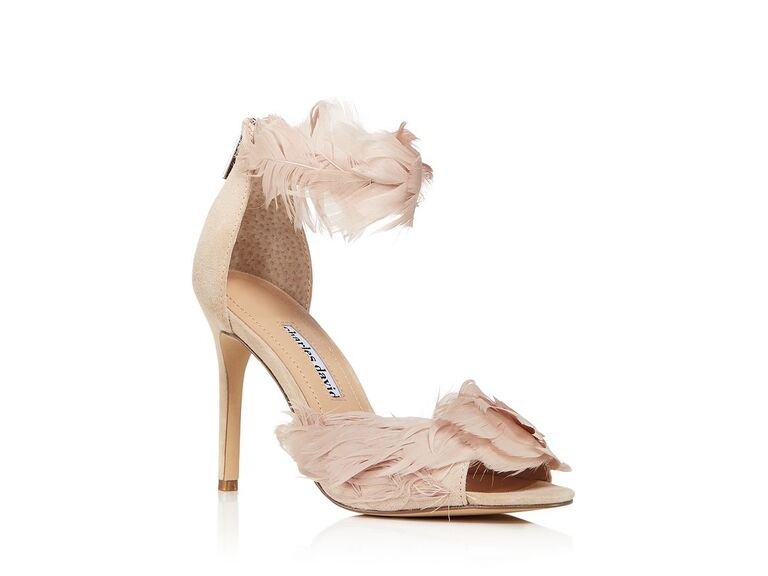 Charles David feather-embellished high-heel sandals