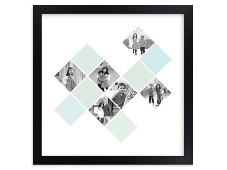 Diamond mosaic photo gift for 30th anniversary