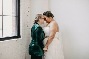 Newlyweds at at PAIKKA in St. Paul, Minnesota