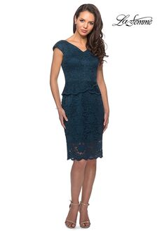 La Femme Evening 25529 Blue Mother Of The Bride Dress