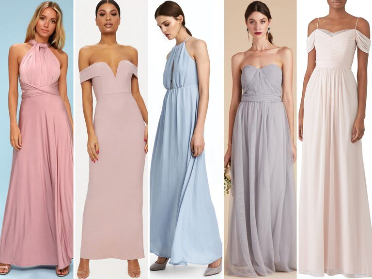 5 Long Bridesmaid Dresses Under 100