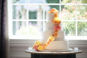 Four-Tier Buttercream Wedding Cake