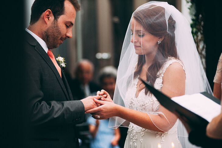 Jewish Wedding Ceremony Ring Exchange