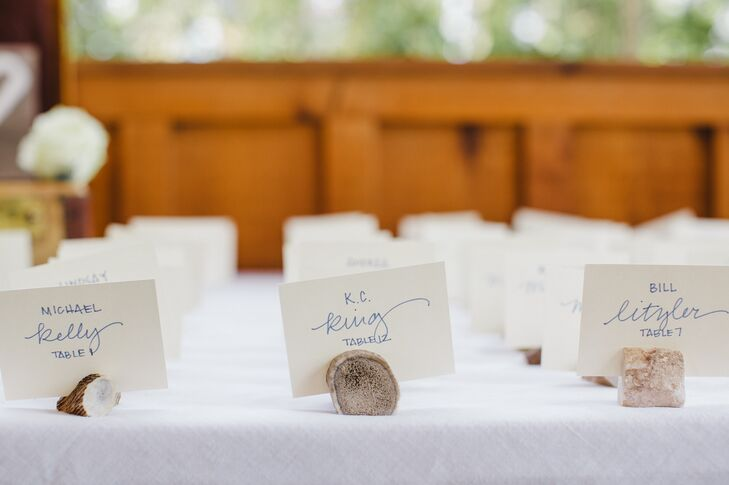 White Escort Cards