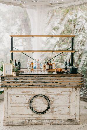 Custom Bar Made of Vintage Wood