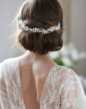 Dareth Colburn Lucia Bridal Hair Vine (TI-3349) Gold, Silver Headband