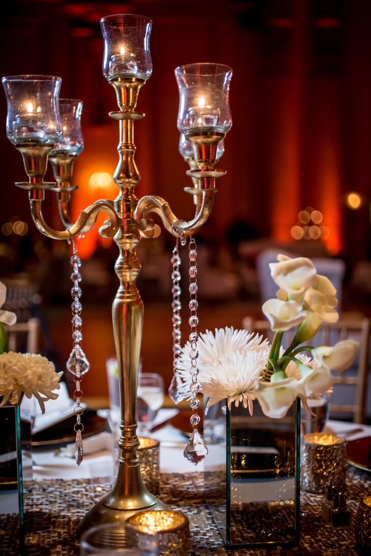 Regal Gold Candelabra Centerpiece
