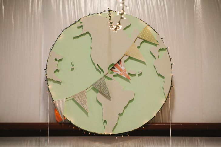 Since Scott is from England and Ashley's family is from Hawaii, the couple incorporated a travel, culture and adventure motif in their decor.