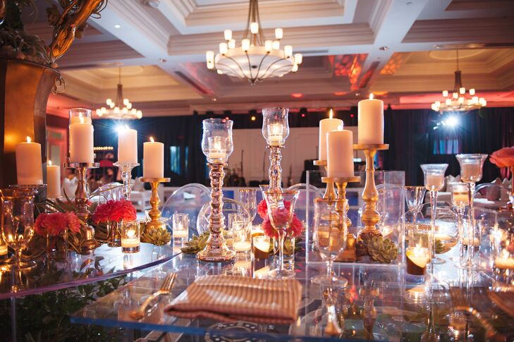 Modern Lucite Dining Table Decor