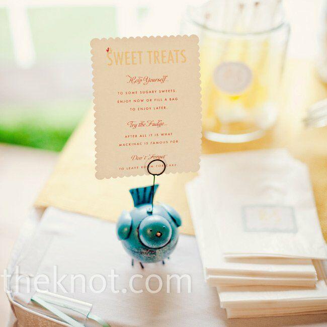 Bluebird Favor Card
