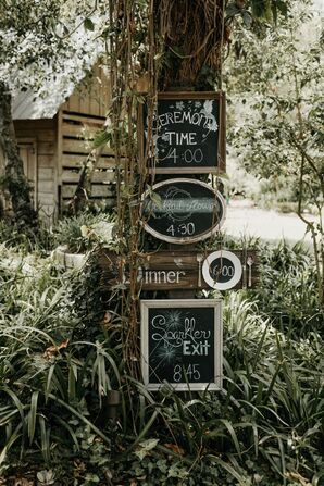 Rustic Wood-Framed Chalkboard Signs