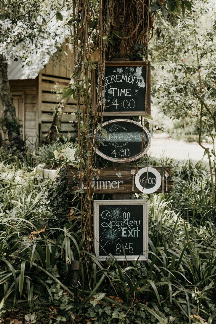 Rustic Wood-Framed Chalkboard Signs