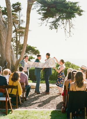 Modern Same-Sex Wedding with Hawaiian Kapa Ceremony