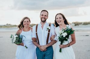 Processional for Beach Wedding  on Tybee Island in Georgia