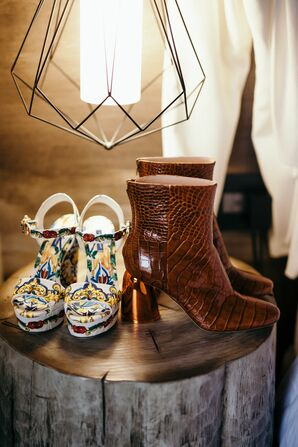 Floral Heels and High Fashion Boots for Wedding Looks