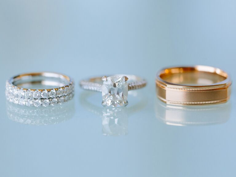 Engagement Ring And Wedding Bands For Sizing
