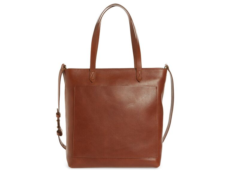 Leather tote bag anniversary gift