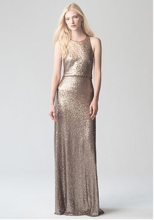 Jenny Yoo Collection (Maids) Sloane {Rose Gold} #1730 Bateau Bridesmaid Dress