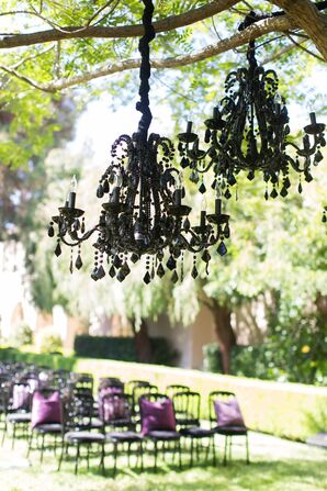 Glam, Gothic-Style Black Chandeliers