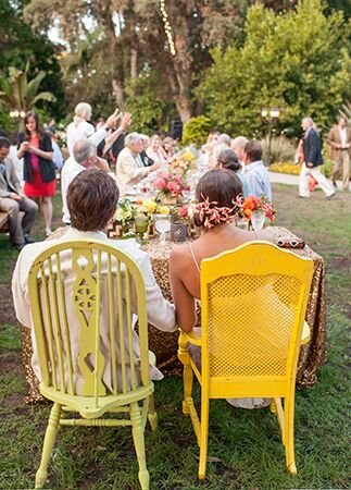 mismatched reception chairs | She Wanders | Blog.theknot.com