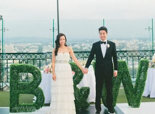 Tradition melded with contemporary creativity at the wedding of Bora Hong and William Park. Their church ceremony at Immanuel Presbyterian Church in L