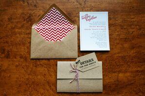 Retro Kraft Paper Invitations