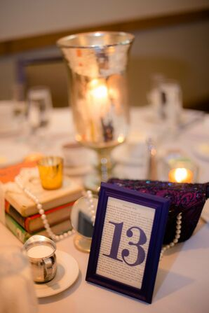 Bold Navy Table Numbers on Book Pages