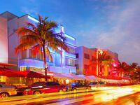 Miami Beach at night