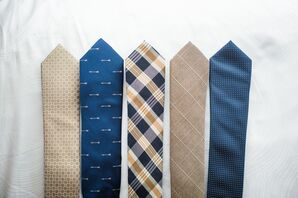 Classic Navy and Neutral Printed Ties