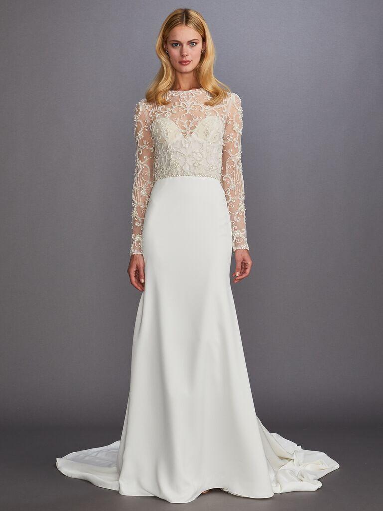 Allison Webb Fall 2019 Bridal Collection wedding dress with embellished bodice
