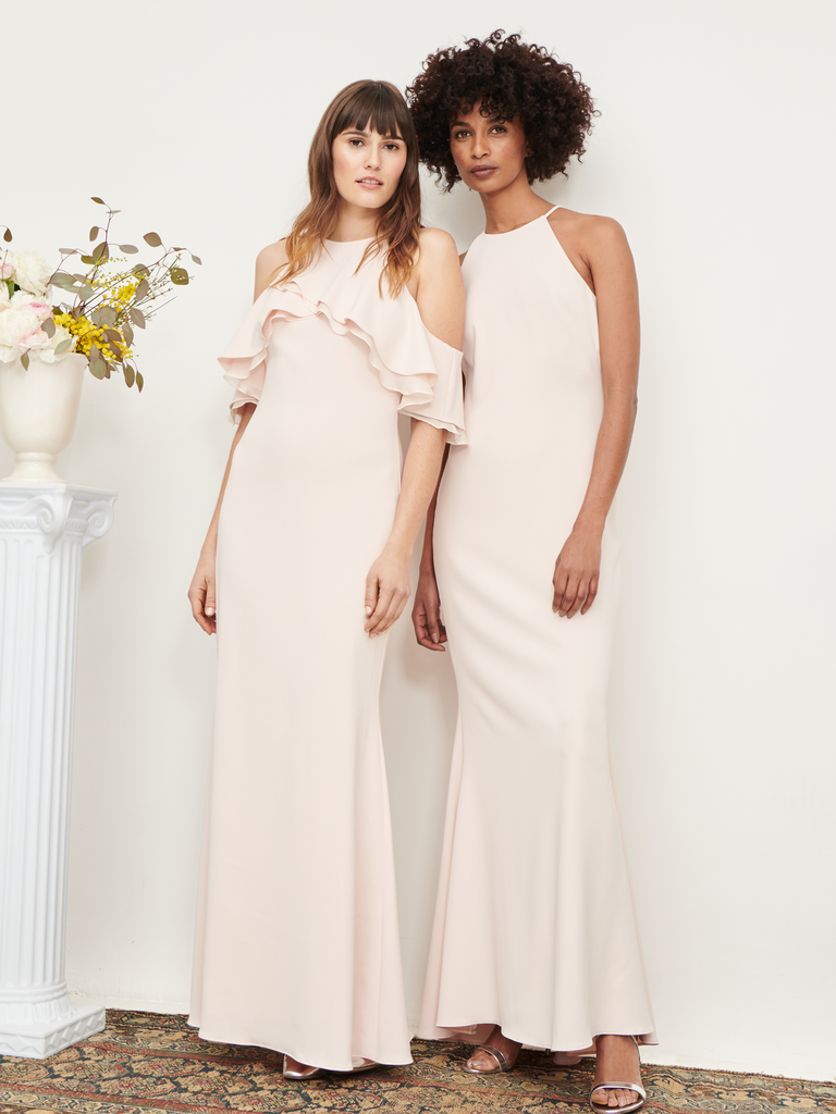 Rent the runway launches rtr wedding concierge for brides bridesmaids blush bridesmaid dresses with mismatched necklines ombrellifo Gallery