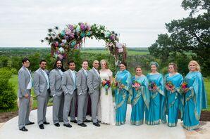 Blue Bridesmaid Saris