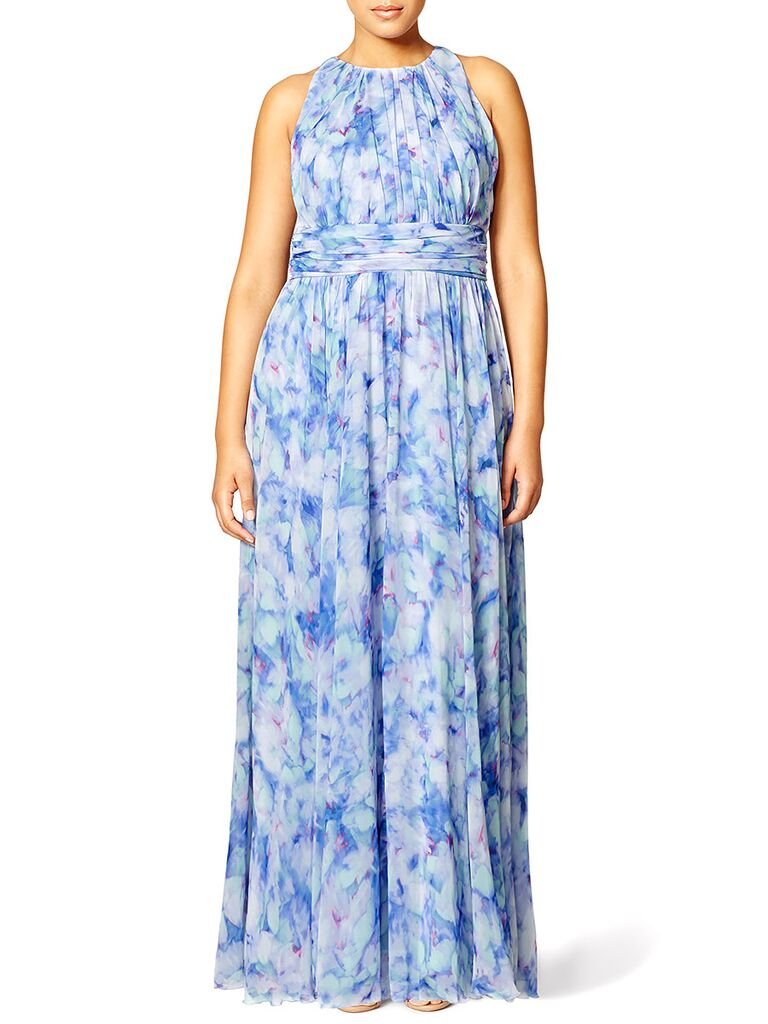 Badgley Mischka maxi dress what to wear to a spring wedding