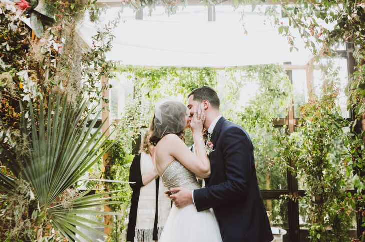 "A dramatic first kiss only made sense for this passionate couple. ""Be present,"" Lauren advises for the day. ""Everyone says the day will fly by and you won't believe how quick it all goes.  But we kept reminding ourselves to be in the moment and savor it all...and it worked. """