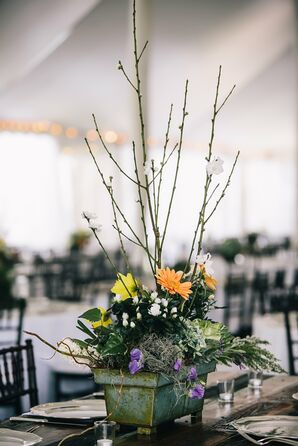 Rustic Reception Centerpiece