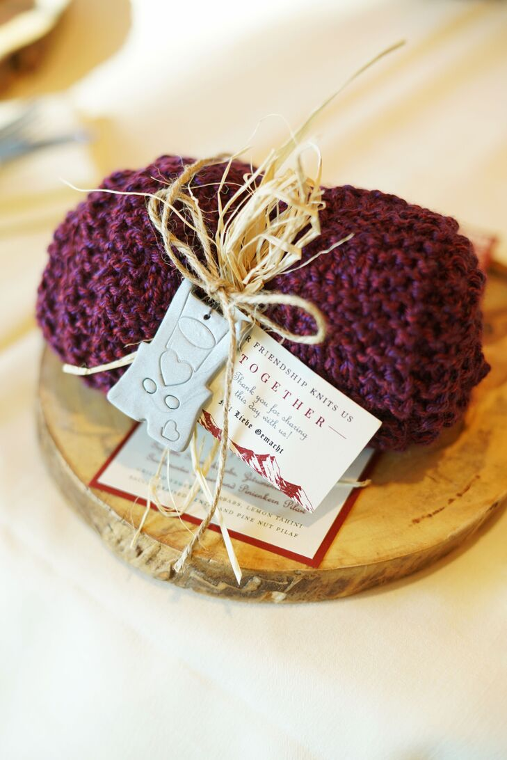 Knitted Scarf Wedding Favor