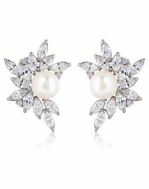Thomas Laine Liz Garland Pearl Cluster Earrings Wedding Earring photo