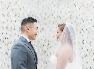 Kristine Ibanez (26 and works in digital marketing and e-commerce) and Carlo Dimagmaliw (28 and a CPA) wanted their ballroom wedding to evoke the ench