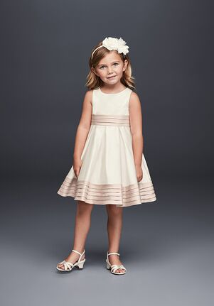 David's Bridal Flower Girl WG1372 Champagne Flower Girl Dress