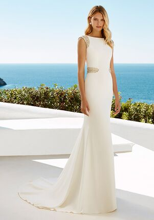 Aire Barcelona XIES Sheath Wedding Dress