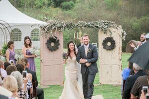 Lavender, Eucalyptus Vintage Door Wedding Arch