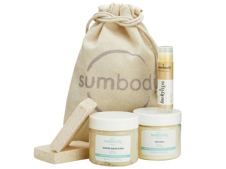 ​Sumbody Skincare Get Sum bath & body assortment in sunkissed vanilla affordable bridesmaid gifts