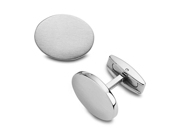 Silver cuff links gift for father of the groom