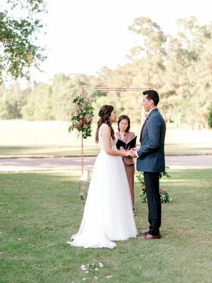 Simple, Romantic Ceremony at The Woodlands Country Club