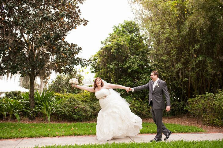Romantic Ruched Ballgown