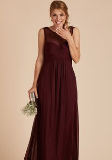 Birdy Grey Ryan Mesh Dress in Cabernet Illusion Bridesmaid Dress