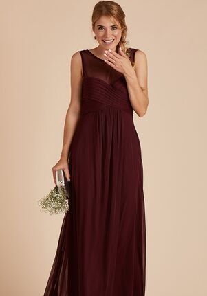 Birdy Grey Ryan Mesh Dress in Cabernet Illusion Bridesmaid Dress