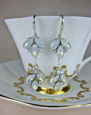 Everything Angelic Chandra Earrings - e304 White Opal Wedding Earring photo