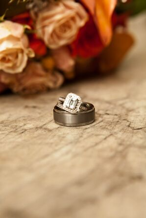 Set of Silver Traditional Wedding Rings